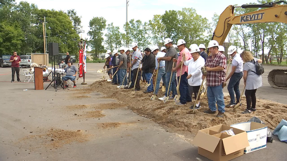 Minneapolis and tribal leaders break ground on housing project at site of former Navigation Center