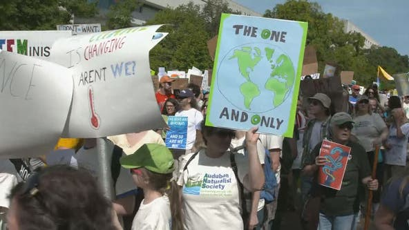 DC area youth march on US Capitol during day of global action against climate change