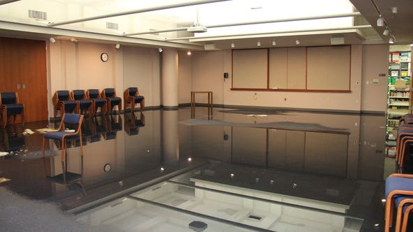 Water leak forces closure of Rochester Public Library
