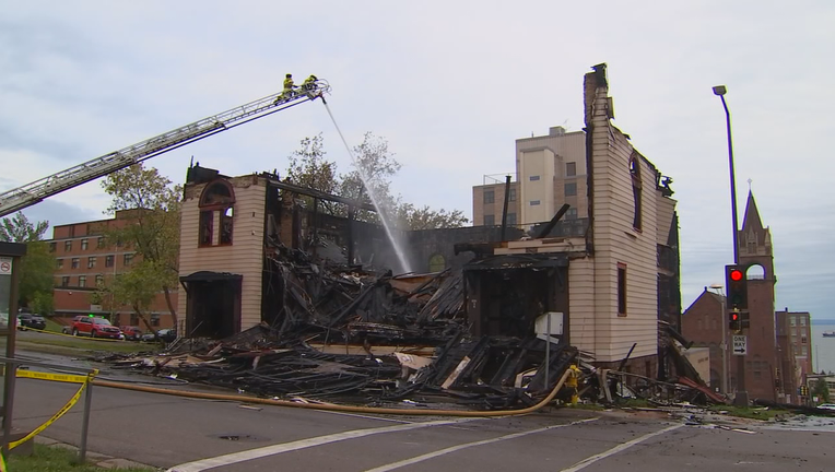 Synagogue fire in Duluth (2)
