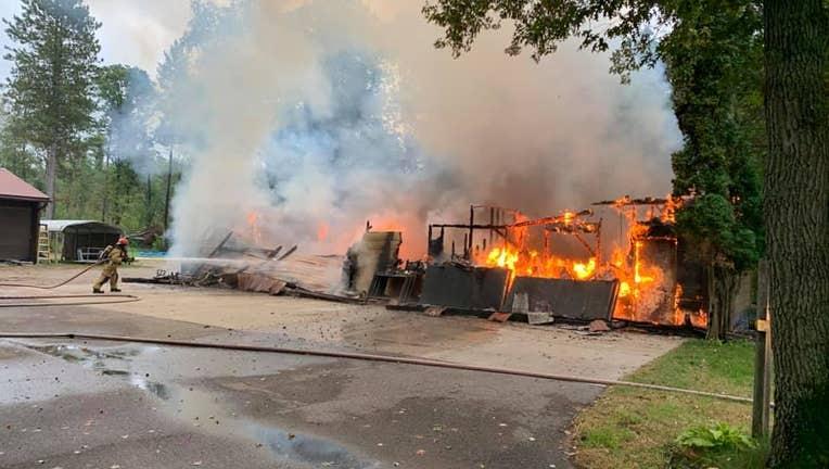 Fire in East Gull Lake Sept. 21