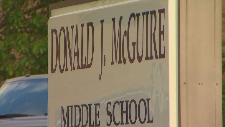 Sign for McGuire Middle School