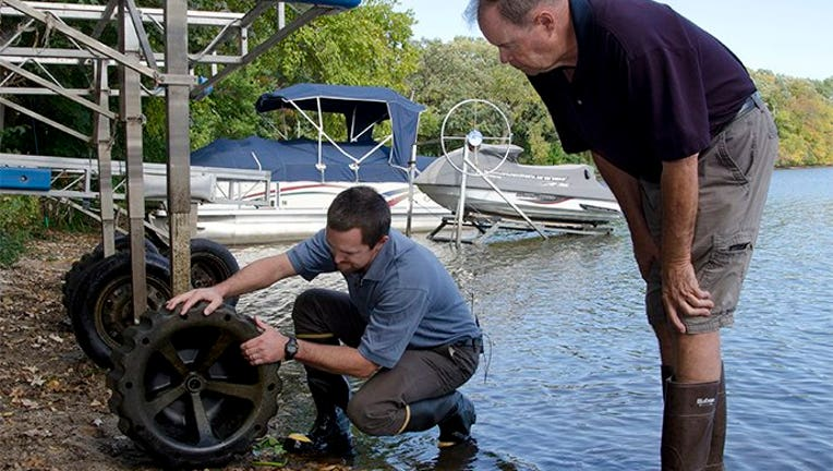 Checking your dock for invasive species