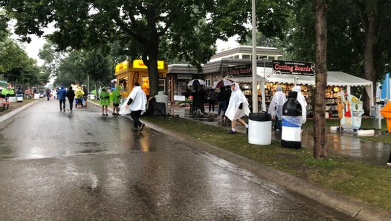 Empty rainy State Fair