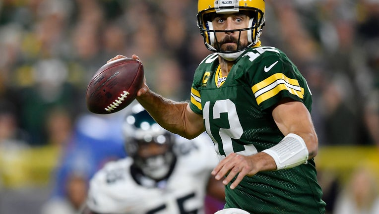 Aaron Rodgers Packers vs Eagles