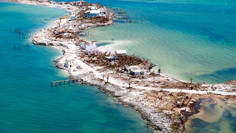 GREAT ABACO, BAHAMAS - SEPTEMBER 5: Aerial view of damage after Hurricane Dorian passed through on September 5, 2019 in Great Abaco Island, Bahamas. Hurricane Dorian hit the island chain as a category 5 storm battering them for two days before moving north. (Photo by Jose Jimenez/Getty Images)