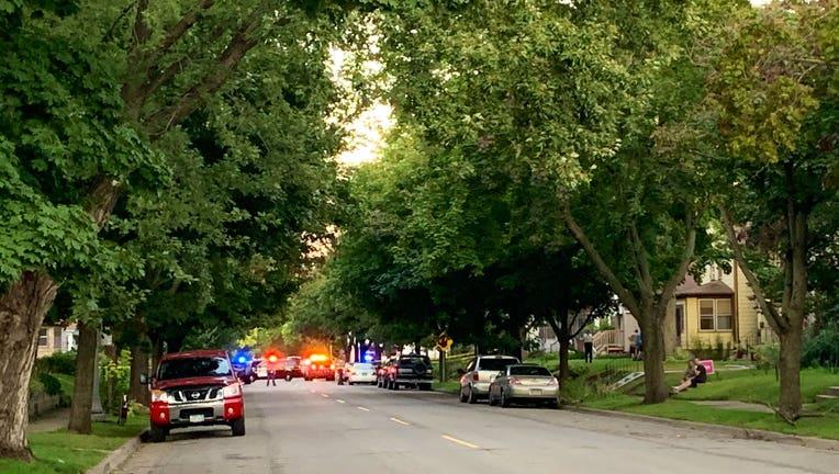 Officer-involved shooting scene in St. Paul