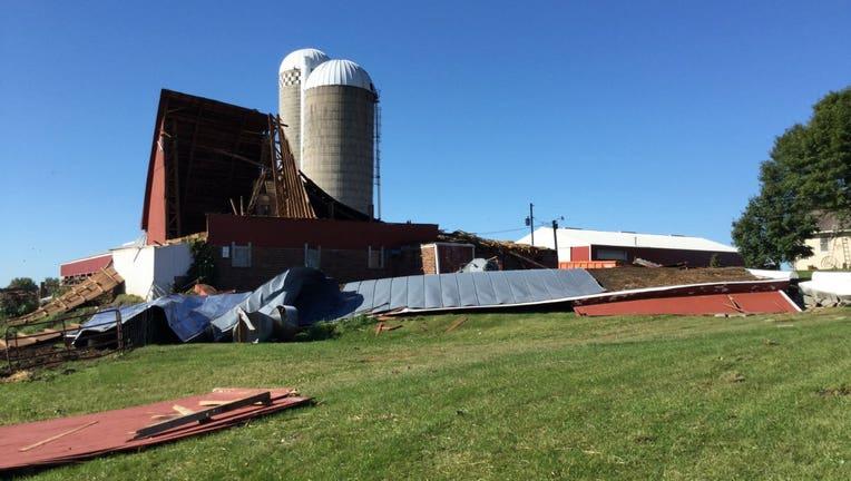NWS tornado damage near Howard Lake