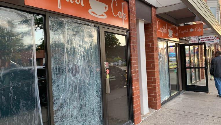 Capitol Cafe vandalism, Franklin Ave Minneapolis