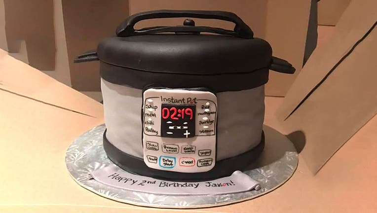 Kristyn Miller's son Jaxon was turning 2, and instead of a more traditional birthday cake, Kristyn decided to get something that really spoke to her son's unique interests: an Instant Pot. (Photo: Kristyn Miller)