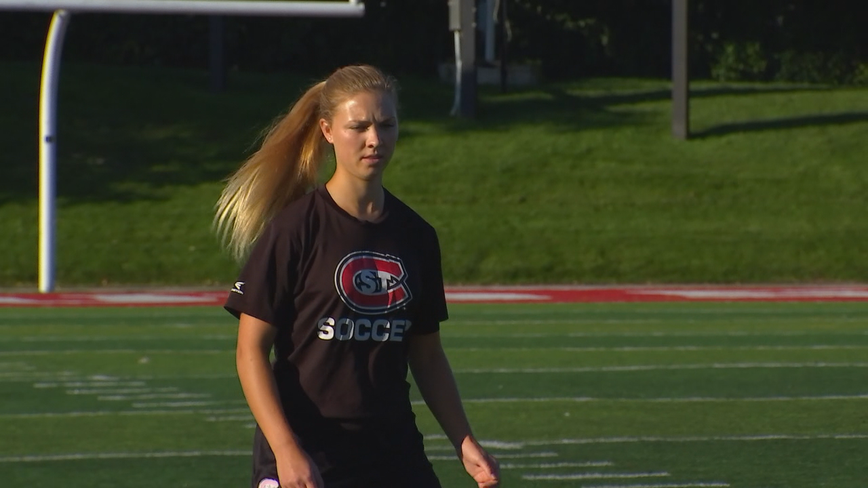 Stroke survivor kicks her way back onto the soccer field at St. Cloud State