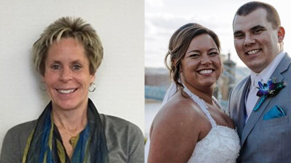 Two Ohio women died after being struck by lightning while jogging through a cemetery last Friday. Left: Patricia Herlinger, 55. Right: Danielle Brosious, 27.