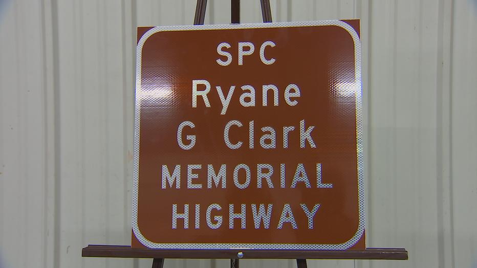 Ryane Clark Memorial Highway sign