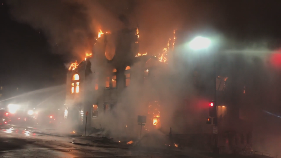 Synagogue fire in Duluth, Minn.