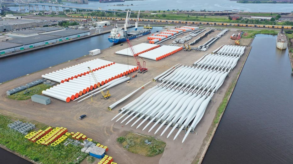 Turbine blades in Duluth harbor