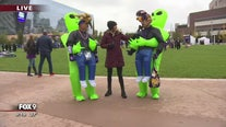Vikings fans sport alien costumes to Sunday's game
