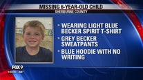 Crews searching for 6-year-old boy near Becker, Minn. Tuesday night