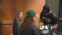Minnesota girl who gave up puck at Wild game gets to meet with players