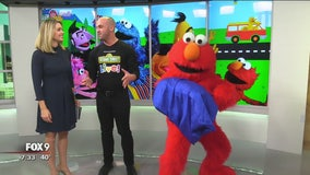 Elmo stops by FOX 9 and does magic!