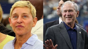'Be kind to everyone': Ellen DeGeneres defends sitting next to George W. Bush at NFL game