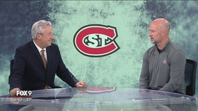 Fox 9 Sports Now: St. Cloud State hockey coach Brett Larson previews the 2019/2020 Huskies