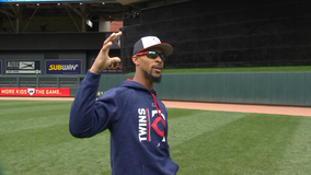 Video shows Twins OF Byron Buxton taking swings, working back from shoulder surgery