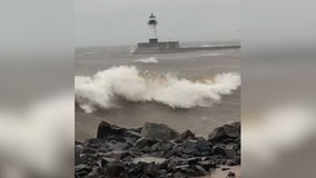 Police warn of heavy winds, flooding, power outages in Duluth, Minn.