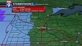 Frost advisory overnight for much of western Minnesota