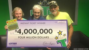 'We've been blessed': Retired Air Force veteran wins $4M from scratch-off lottery ticket