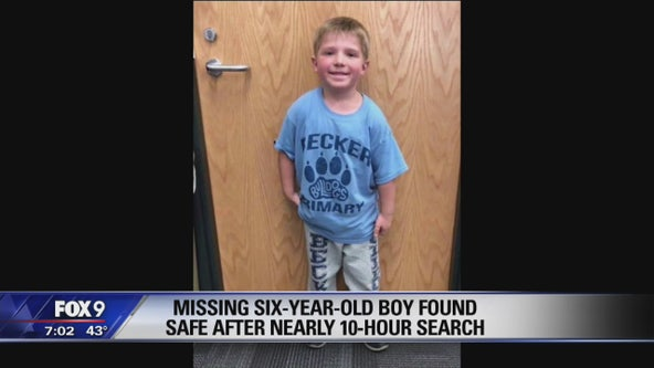 Missing 6-year-old boy in Becker, Minnesota found with family dog 1.5 miles from home