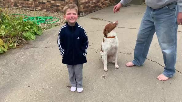 Missing Becker, Minnesota boy thanks dog who kept him safe, 600 volunteers who helped search for him
