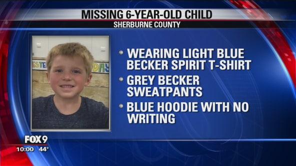 Crews searching for 6-year-old boy near Becker, Minn. Tuesday night
