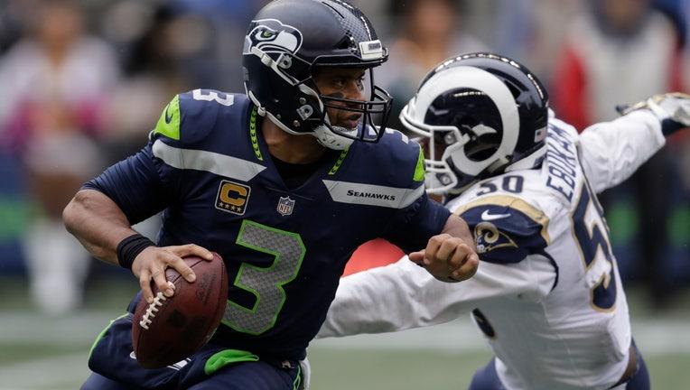 Seahawks vs Rams Russell Wilson