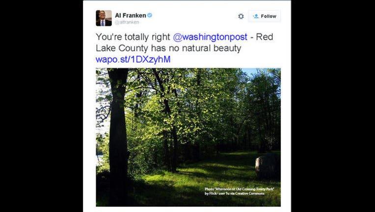 edf03c32-Al Franken Red Lake County tweet