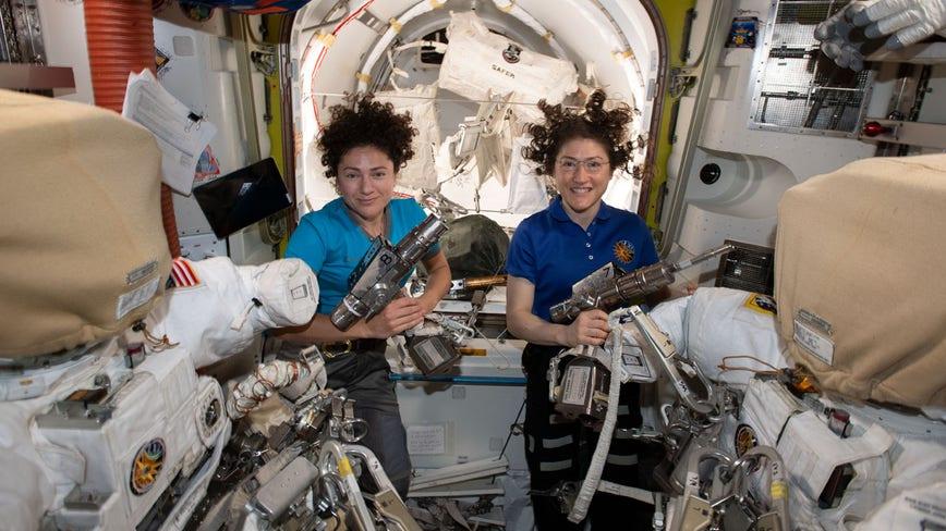 World's 1st female spacewalking team makes history
