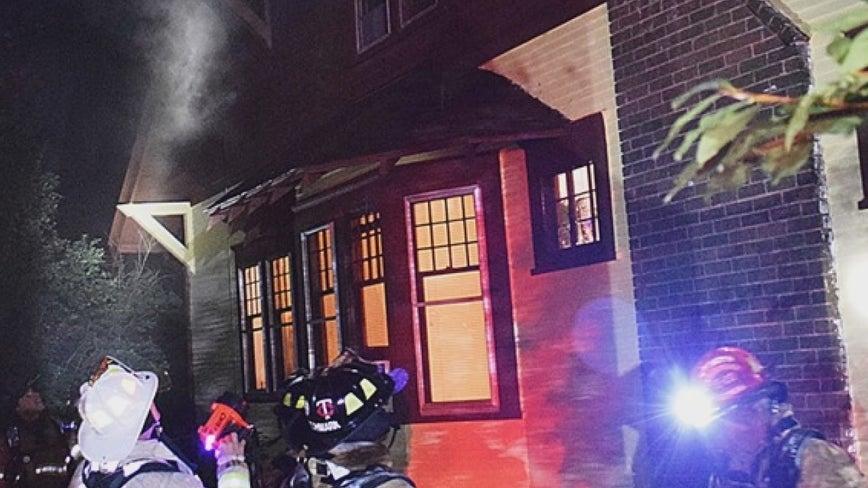 Man runs to fire department for help after lightning hits St. Paul, Minn. home