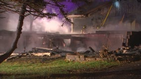 Brooklyn Center home a total loss after early morning fire