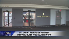 Security checkpoint at MSP reopens