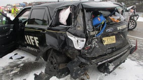 Pickup truck crashes into Dunn County deputy's squad car