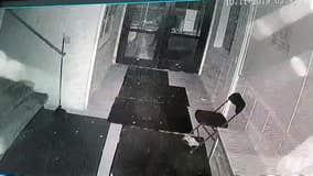 Surveillance video shows vandal smashing glass door of Minneapolis mosque