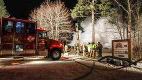 Voyageur Park Lodge a 'total loss' after Monday night fire in northern Minnesota
