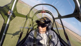 'Just like I remembered': 101-year-old WWII veteran takes to the skies once more