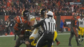 Steelers-Browns game ends in helmet-swinging brawl