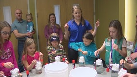Girls, Science, and Technology: Girls test out experiments at the Minnesota Science Museum