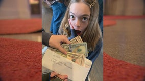 Girls return money to owner after finding wad of cash in Minnetonka