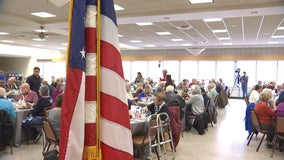 Dozens of veterans honored at brunch in Bloomington ahead of Veterans Day