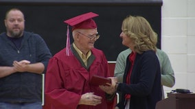 World War II veteran receives high school diploma at the age of 95
