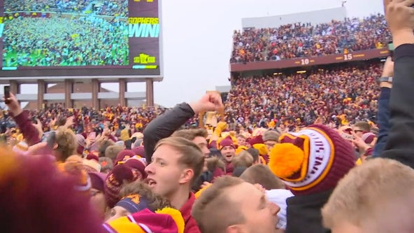 Elated Gopher fans follow team to Iowa