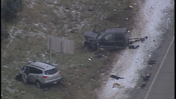 Wanted man leads chase, goes wrong way on highways, crashes in Wisconsin
