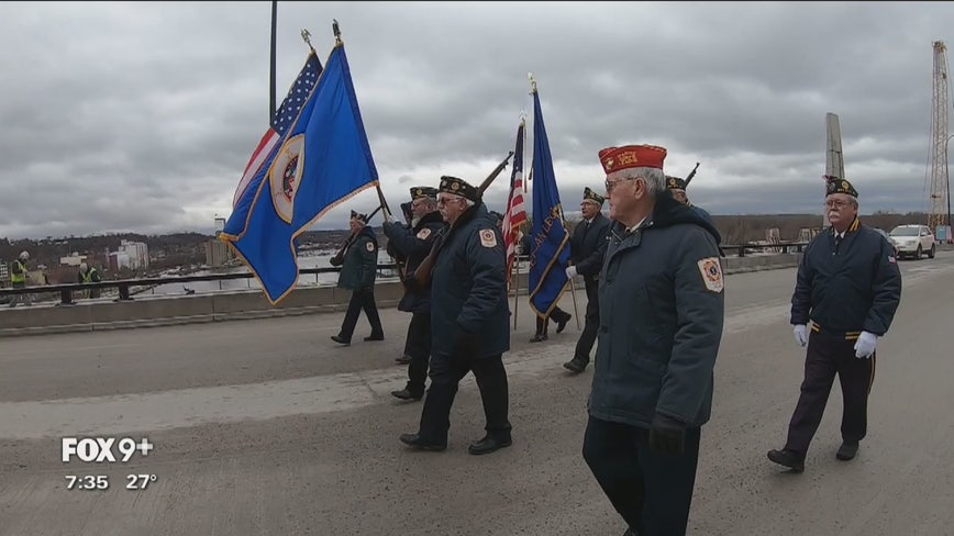Veterans open new Eisenhower Bridge of Valor across Mississippi River in Red Wing